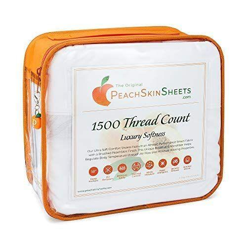 """<p><strong>PeachSkinSheets</strong></p><p>amazon.com</p><p><strong>$89.95</strong></p><p><a href=""""https://www.amazon.com/dp/B011IXTDM8?tag=syn-yahoo-20&ascsubtag=%5Bartid%7C10055.g.36544415%5Bsrc%7Cyahoo-us"""" rel=""""nofollow noopener"""" target=""""_blank"""" data-ylk=""""slk:Shop Now"""" class=""""link rapid-noclick-resp"""">Shop Now</a></p><p><strong>T</strong><strong>esters gave these sheets perfect softness and comfort ratings </strong>in our at-home sleep test. Our panel also unanimously said they stayed at a comfortable body temperature while sleeping on these sheets, so there's no need to worry about overheating. </p><p>The fabric excelled in our shrinkage and strength tests, but because it has a slightly fuzzy surface (which makes it feel extremely soft), the tradeoff is it showed more pilling than others we tested. </p>"""
