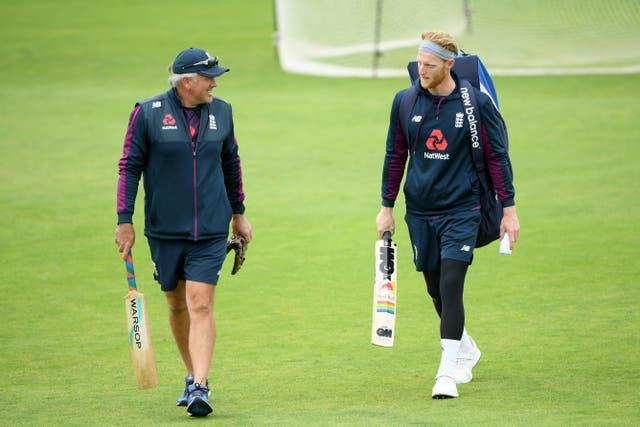 Ben Stokes, right, and England coach Chris Silverwood have been called into action