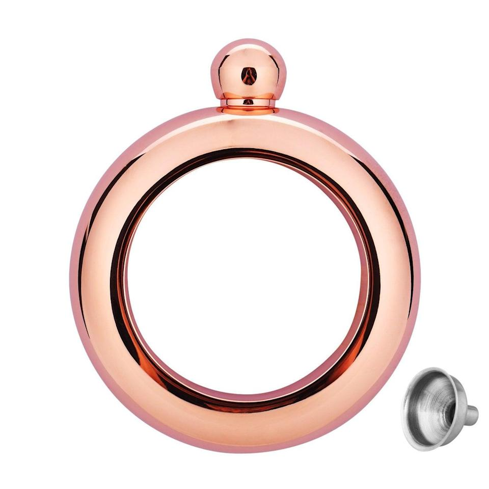 <p>Sneak alcohol into any situation with this <span>JFeng Bangle Bracelet Flask</span> ($25). </p>