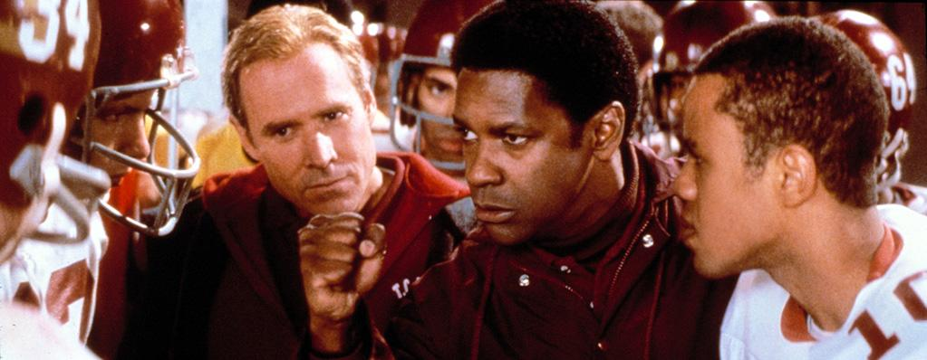 """<a href=""""http://movies.yahoo.com/movie/1800420407/info"""">REMEMBER THE TITANS</a> (2000)   Continuing his string of critically praised and financial lucrative biopics, Denzel plays Herman Boone, a black football coach in a recently desegregated high school in the Deep South. This isn't, however, the actor's only connection to the gridiron; his eldest son John David was signed as a free agent running back for the St. Louis Rams in 2006."""