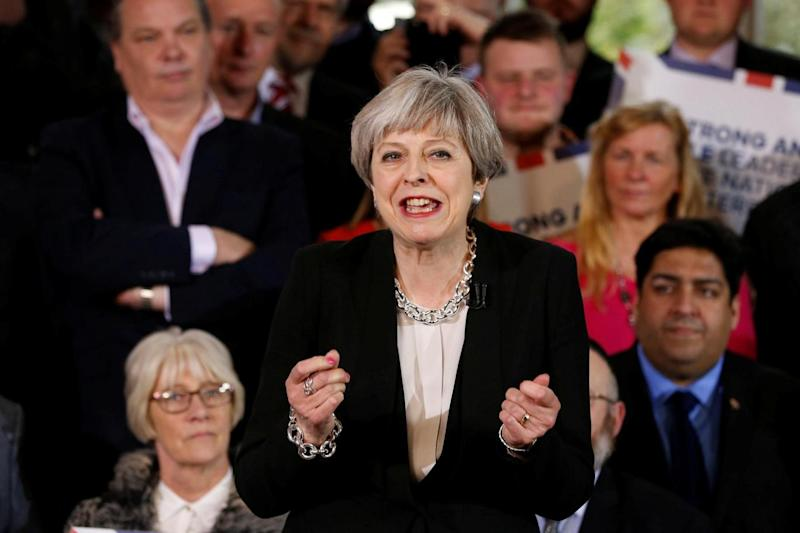 Theresa May: The PM said the UK could not stay part of the single market (Getty Images)