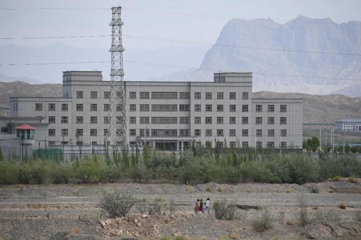 A facility in Xinjiang believed to be a re-education camp (AFP Photo/GREG BAKER)