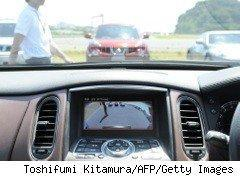 In-dash motion detector