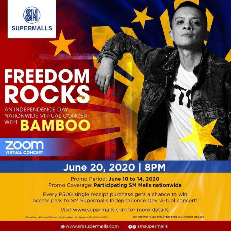 ZOOM virtual concert at SM malls with Bamboo