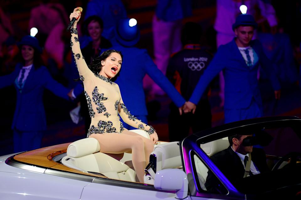 Singer Jessie J performs during the Closing Ceremony on Day 16 of the London 2012 Olympic Games at Olympic Stadium on August 12, 2012 in London, England. (Photo by Mike Hewitt/Getty Images)