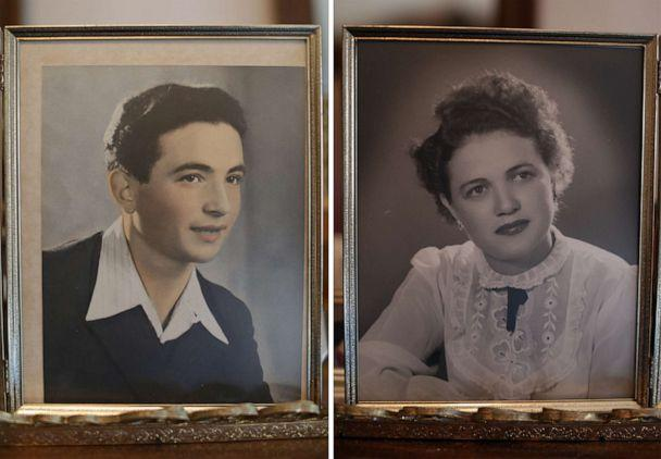 PHOTO: Holocaust survivor Leon Sherman, is seen in a portrait taken in 1949, and his wife Anna is seen in an undated photo. (Courtesy Leon Sherman)