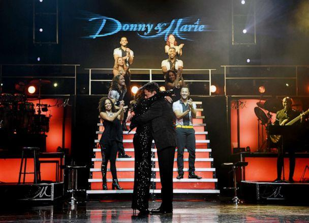 PHOTO:Marie & Donny Osmond during their final performance at Flamingo Las Vegas on Nov. 16, 2019 in Las Vegas. (Denise Truscello/WireImage/Getty Images)