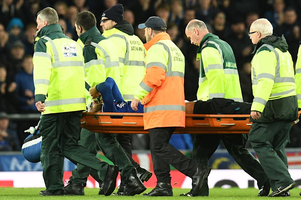 Gomes was stretchered off the field after a lengthy delay. (Credit: Getty Images)