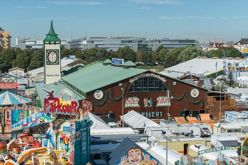 The Oktoberfest grounds ahead of its opening on Saturday (AFP Photo/Matthias Balk)