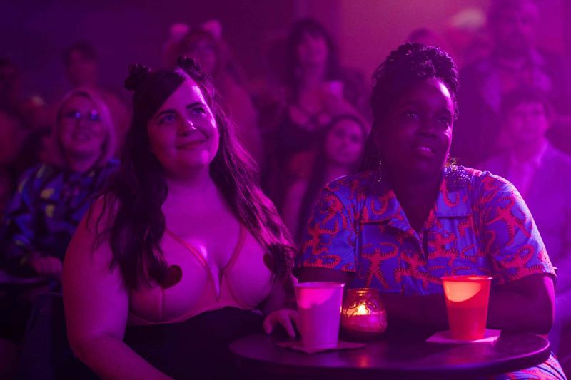 Annie (Aidy Bryant) and Fran (Lolly Adefope) in Shrill season two