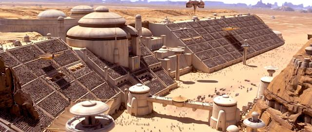 The podracing arena in <em>The Phantom Menace</em>. (Photo: Lucasfilm)