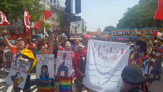 Thousands unite against Trump's environmental policies at People's Climate March