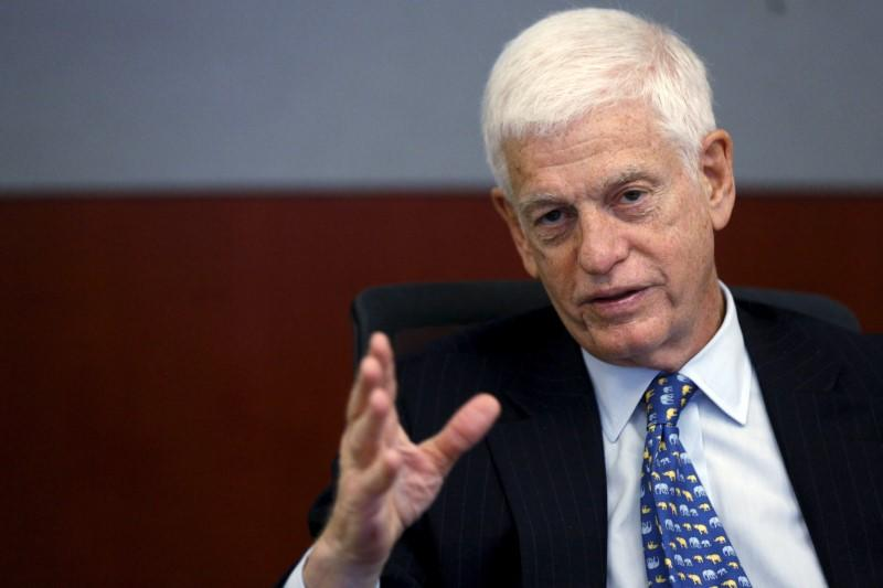 Chairman and CEO of GAMCO Investors, Inc. Mario Gabelli speaks at the Reuters Global Investment Summit in New York