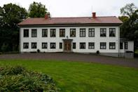 Bjoerkborn Manor is where Alfred Nobel lived during his last years (AFP/Jonathan NACKSTRAND)