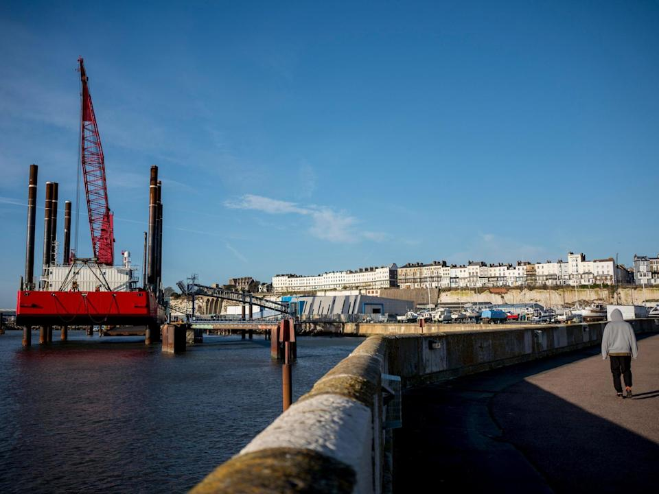 Environmental 'cheat' devices fitted to thousands of ships could be a risk to UK ports such as Ramsgate: AFP