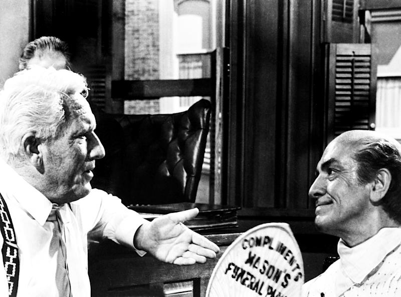 Spencer Tracy and Fredric March in Stanley Kramer's 1960 classic, 'Inherit the Wind' (Photo: Courtesy Everett Collection)