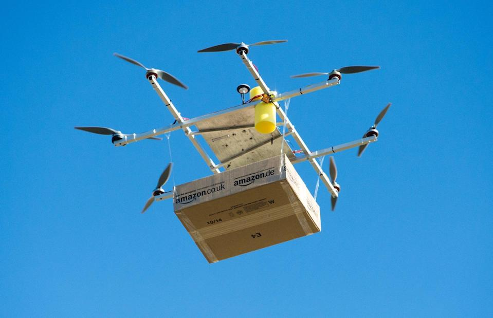"""Drones are becoming an efficient way to carry packages on the """"last mile"""" of delivery."""