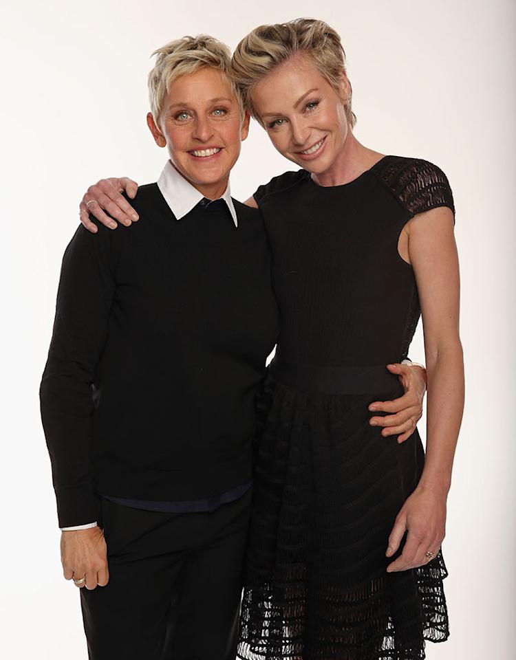 "Ellen DeGeneres, 55, and actress Portia de Rossi, 40, wed at their Beverly Hills home in August 2008 after California's high court found the Proposition 8 ban on gay marriage to be unconstitutional. (Prop 8 was overturned in 2010, but the court allowed existing same-sex marriages to stand.) ""It's a supremely wonderful day for equality,"" DeGeneres <a href=""https://twitter.com/TheEllenShow/status/349917401594343424"" target=""_blank"">tweeted</a> following Wednesday's Supreme Court ruling. ""Prop 8 is over, and so is DOMA. Congratulations everyone. And I mean everyone."" Perhaps the ladies will renew their vows?"