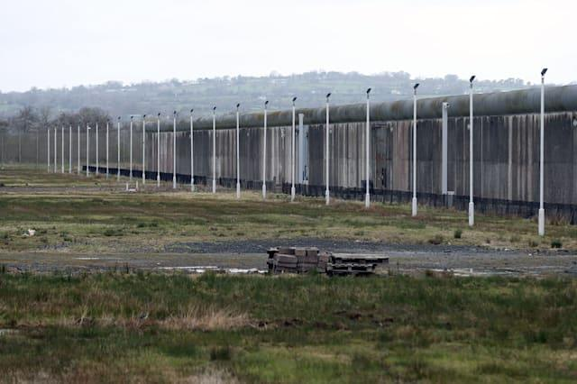 File photo dated 18/4/2015 of the no-mans-land within Maghaberry prison in Northern Ireland which has become a sanctuary for Lapwings, one of the world's most threatened birds. PRESS ASSOCIATION Photo. Picture date: Monday April 20, 2015. Life sentence prisoners helped create the habitat for around 20 pairs of breeding lapwings which have made their home at HMP Maghaberry on a marshy no-man's-land dominated by razor wire and lookouts behind reinforced glass. See PA story ULSTER Maghaberry. Photo credit should read: Niall Carson/PA Wire