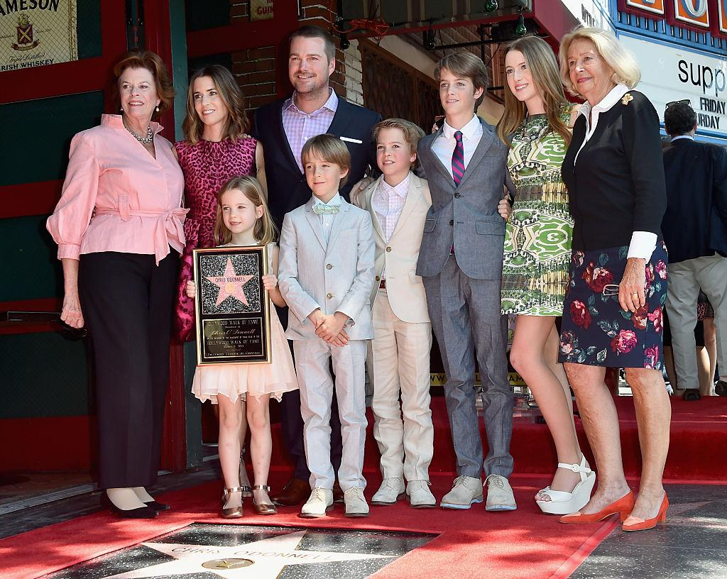 """<p>""""NCIS"""" star Chris O'Donnell is a father of five little ones, and breaking with celebrity tradition, they're all from the same mother, Caroline Fentress. [Photo: Getty] </p>"""