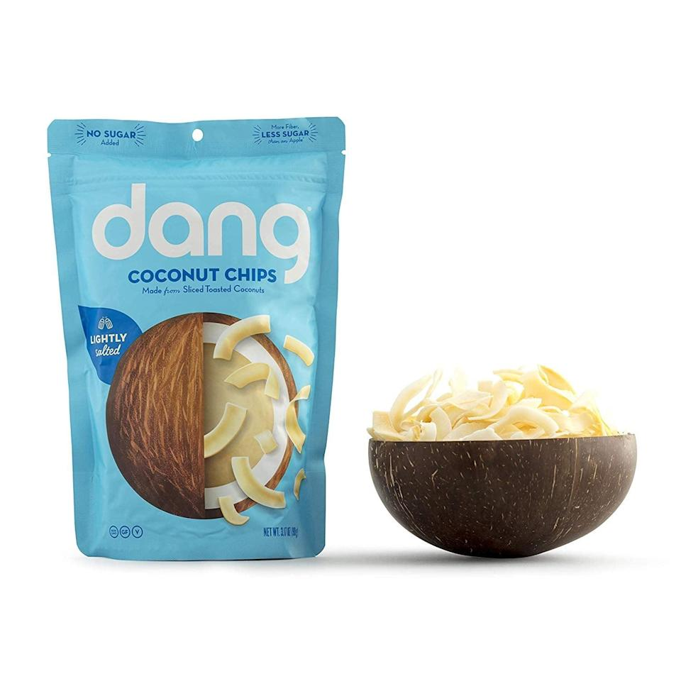<p>These <span>Dang Toasted Coconut Chips</span> ($4) are seriously addictive. Put them in salads or just munch on them straight out of the bag.</p>