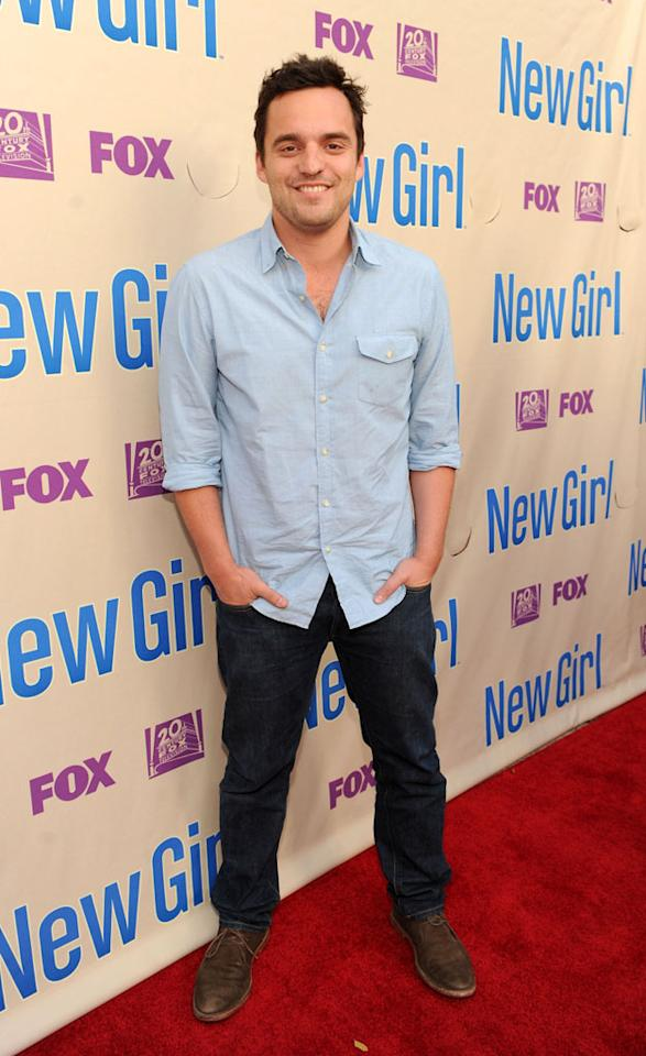 """Jake Johnson arrives at FOX's """"New Girl"""" screening and Q&A at the Academy of Television Arts & Sciences' Leonard H. Goldenson Theater on Tuesday, April 30, 2013 in North Hollywood, California."""
