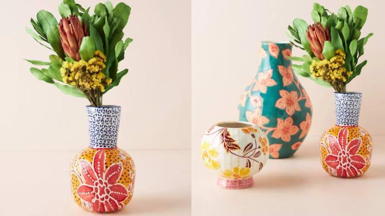 This vase is a piece of art all on its own.