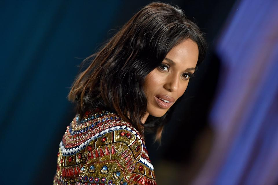 BEVERLY HILLS, CALIFORNIA - FEBRUARY 09: Kerry Washington attends the 2020 Vanity Fair Oscar Party hosted by Radhika Jones at Wallis Annenberg Center for the Performing Arts on February 09, 2020 in Beverly Hills, California. (Photo by Axelle/Bauer-Griffin/FilmMagic)
