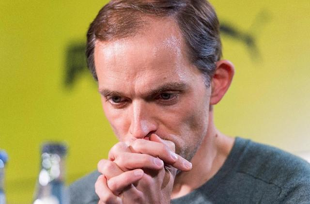 Dortmund's head coach Thomas Tuchel gives a press conference on April 13, 2017 in Dortmund, western Germany, one day after his team lost their Champions League first leg quarter-final match against Monaco (AFP Photo/Guido Kirchner)