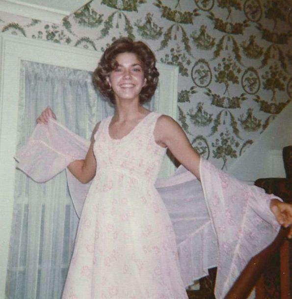 PHOTO: Candace Bushnell poses for a photo before her junior high school prom. (Courtesy Candace Bushnell)