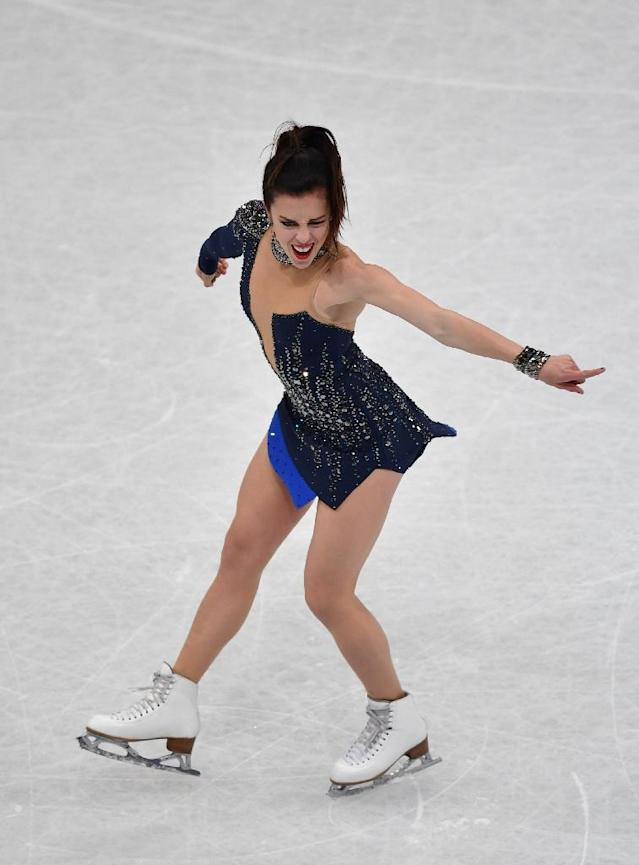Ashley Wagner of United States performs during ladies short program of ISU World Figure Skating Championships 2017 on March 29, 2017 in Helsinki (AFP Photo/)