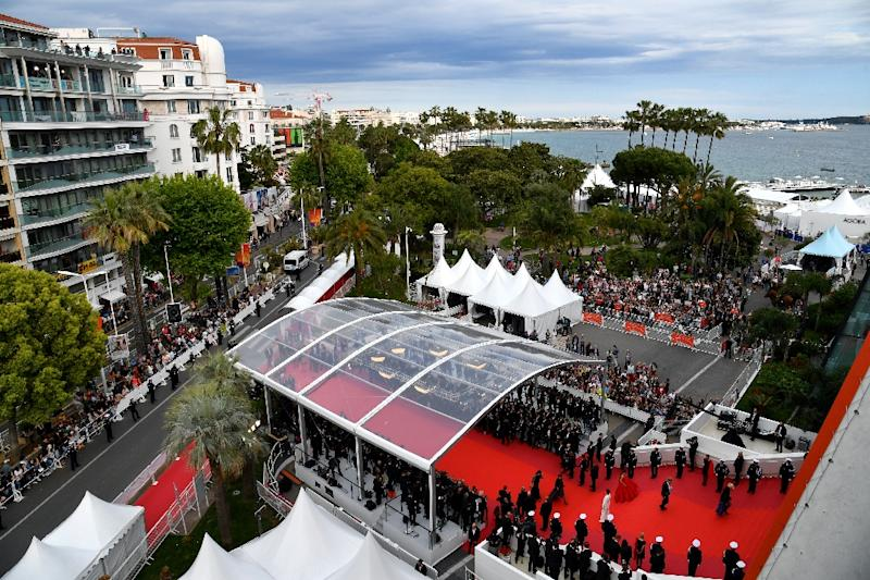 Cannes film festival literally costs the earth, in more ways than one (AFP Photo/Alberto PIZZOLI)