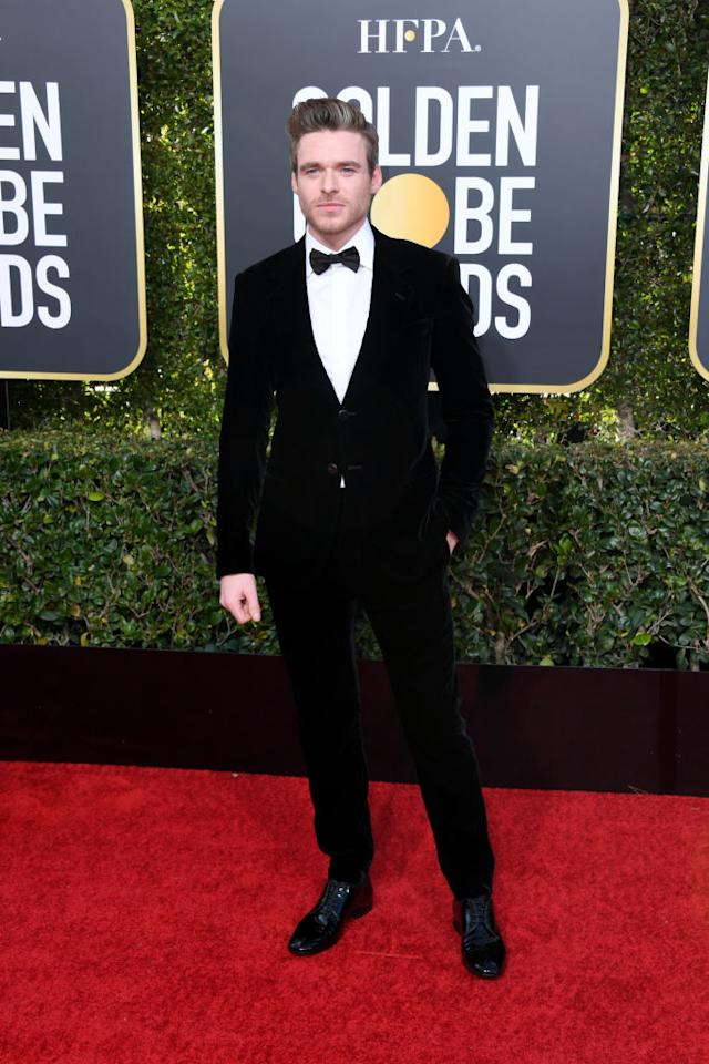 Richard Madden, a winner for his lead acting role in <em>Bodyguard</em>, attends the 76th Annual Golden Globe Awards at the Beverly Hilton Hotel in Beverly Hills, Calif., on Jan. 6, 2019. (Photo: Getty Images)