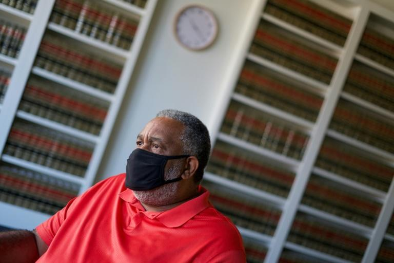 Anthony Ray Hinton, who spent 30 years in prison after a wrongful murder conviction, is seen on October 14, 2020 in Montgomery, Alabama