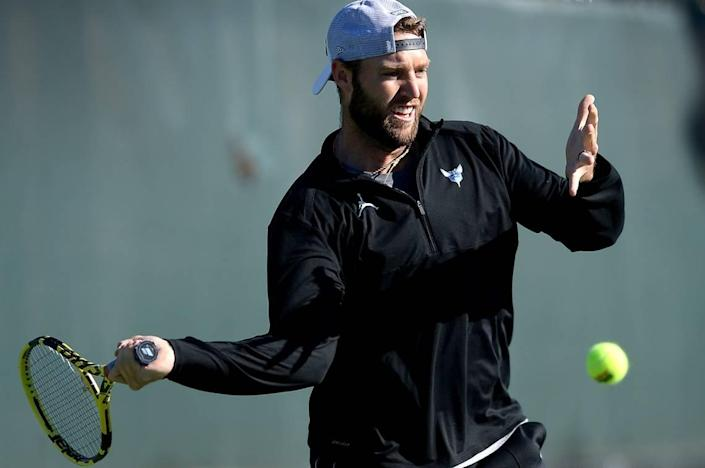 Professional tennis player Jack Sock was once ranked No. 8 in the world in singles but has fallen to No. 257.
