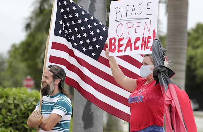 A protest in May in Doral, Fla.