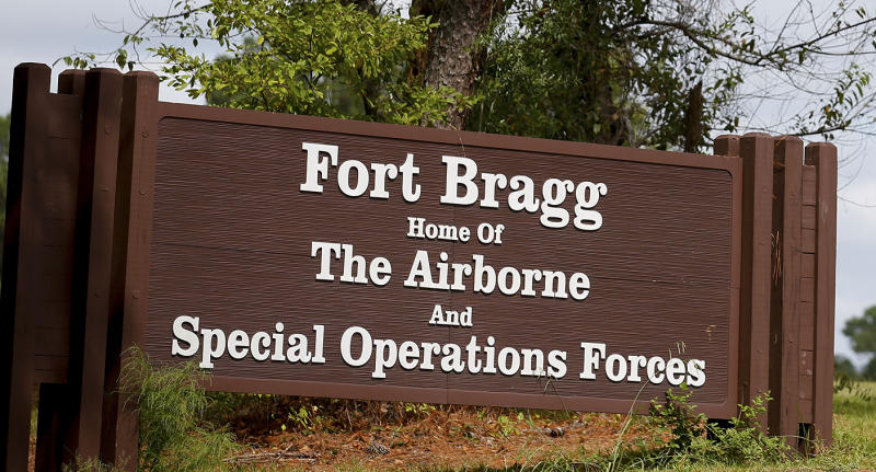 An entrance sign at Fort Bragg in Fayetteville, N.C. (Photo: Chris Keane/Reuters)