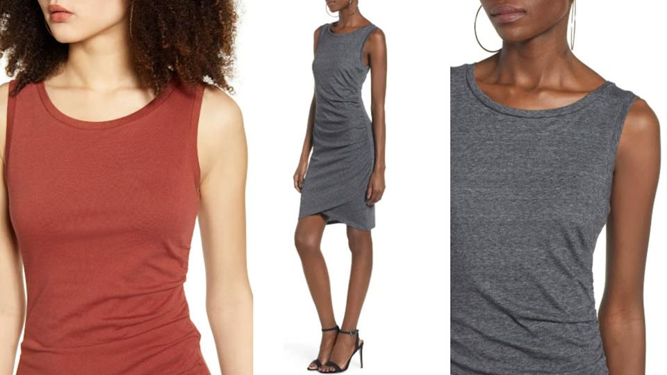 Leith Ruched Body-Con Tank Dress - Nordstrom, $39 (originally $56)