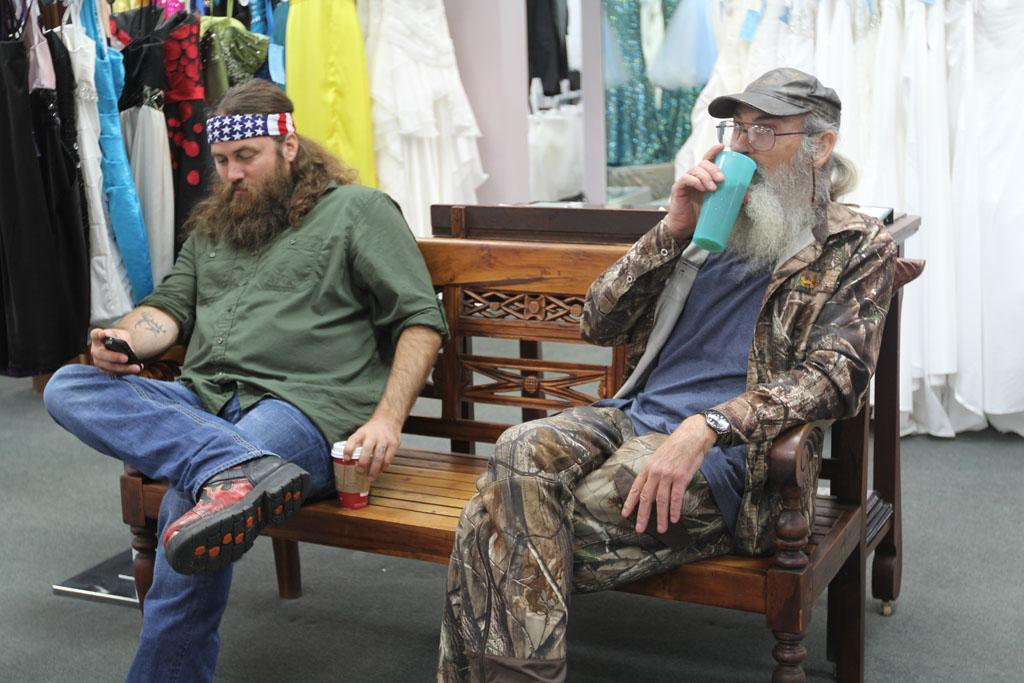 "Willie Robertson and Si Robertson in the ""Duck Dynasty"" Season 3 episode, ""Duck Be a Lady."""