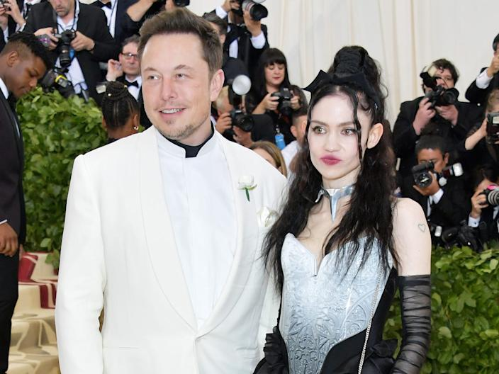 Elon Musk and Grimes attend the Heavenly Bodies: Fashion & The Catholic Imagination Costume Institute Gala at The Metropolitan Museum of Art on May 7, 2018.