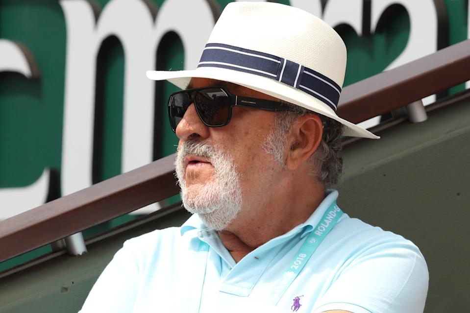 Ion Tiriac (pictured) watches on during the ladies singles final between Simona Halep of Romania and Sloane Stephens of The United States.