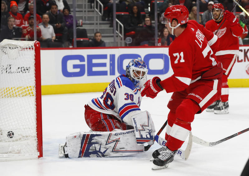 Red Wings rally past Rangers 3-2 in OT