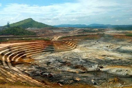 The KCD open pit gold mine, operated by Randgold, at the Kibali mining site in the Democratic Republic of Congo