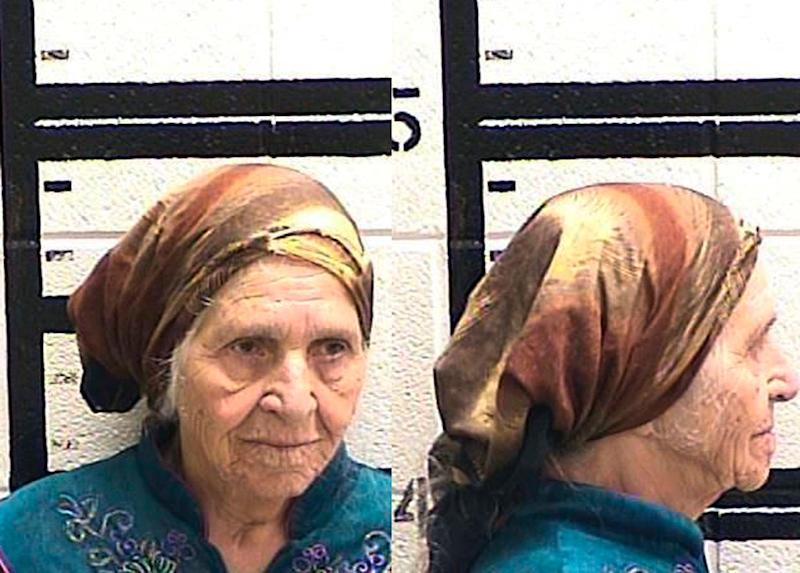 Martha Al-Bishara, 87, was charged with criminal trespass and obstructing an officer Friday after she was seen holding a knife. Her family said she was cutting flowers. (Photo: Murray County Jail/AP)