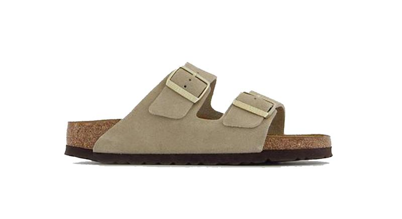 Arizona Two Strap Sandals Vl Taupe Suede