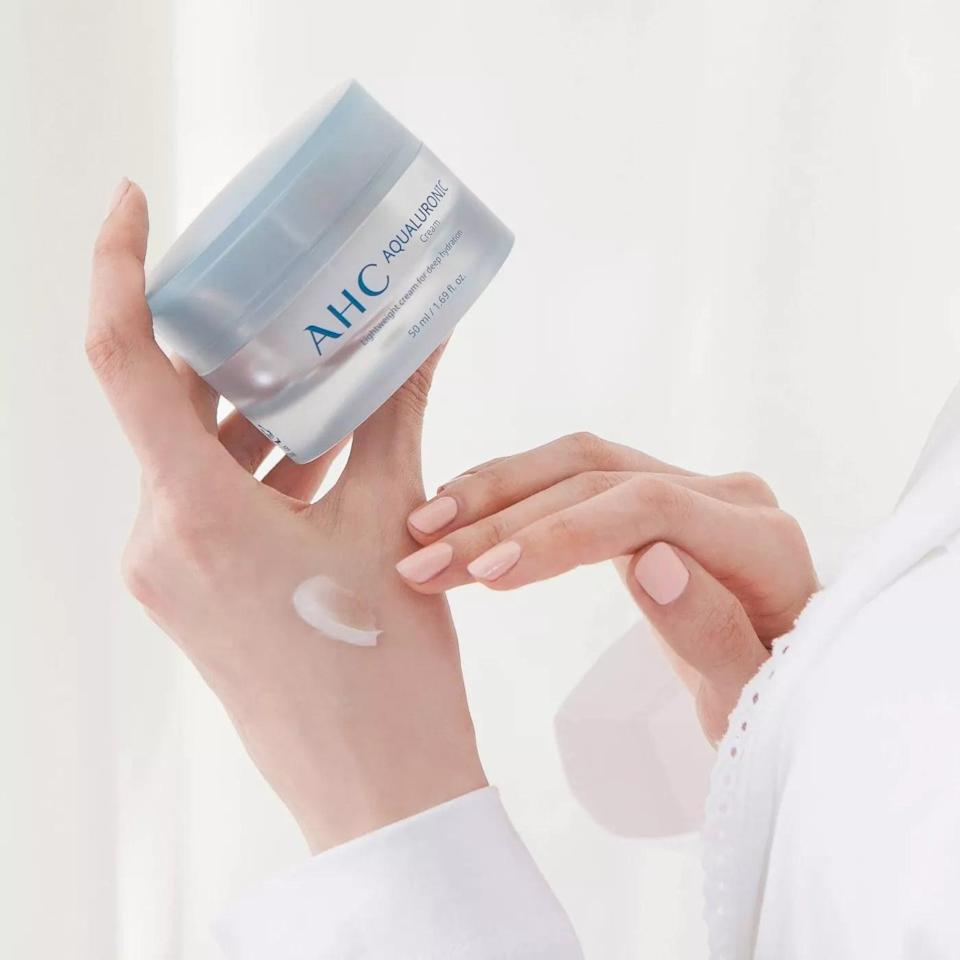 <p>Nourish your skin with the hydrating <span>AHC Aqualuronic Cream</span> ($32). The moisturizer is refreshingly light with a gel texture. It is rich in ceramides and hyaluronic acid and absorbs beautifully into skin.</p>
