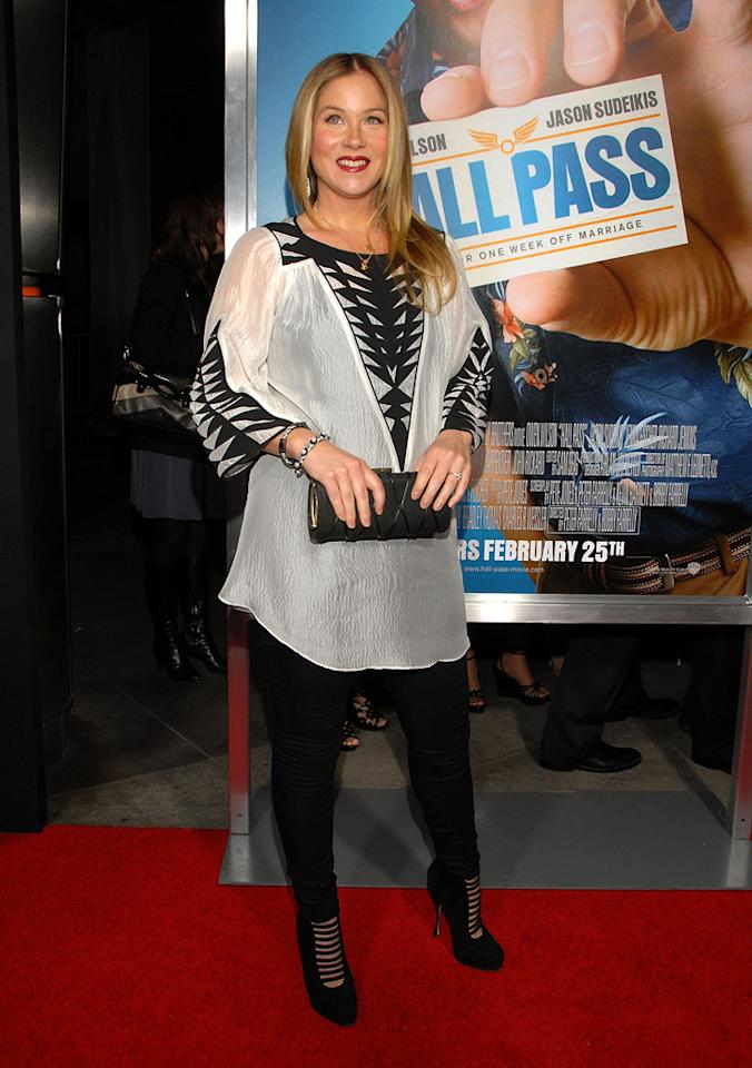 """<a href=""""http://movies.yahoo.com/movie/contributor/1800022673"""">Christina Applegate</a> attends the Los Angeles premiere of <a href=""""http://movies.yahoo.com/movie/1810133702/info"""">Hall Pass</a> on February 23, 2011."""