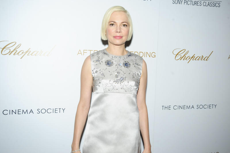 "NEW YORK, NY - AUGUST 6: Michelle Williams attends Chopard And The Cinema Society Host A Special Screening Of Sony Pictures Classics' ""After The Wedding"" at Regal Essex Crossing on August 6, 2019 in New York City. (Photo by Paul Bruinooge/Patrick McMullan via Getty Images)"