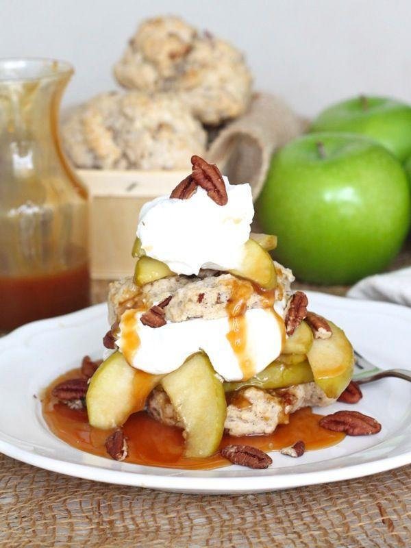 """<p>This easy recipe proves shortcake isn't just for fresh summer strawberries. Put a winter spin on the classic with tart apples, pecans, and a sweet and sticky caramel sauce. </p><p><a href=""""https://thebakermama.com/recipes/caramel-apple-pecan-shortcakes/"""" rel=""""nofollow noopener"""" target=""""_blank"""" data-ylk=""""slk:Get the recipe"""" class=""""link rapid-noclick-resp"""">Get the recipe</a>.</p>"""