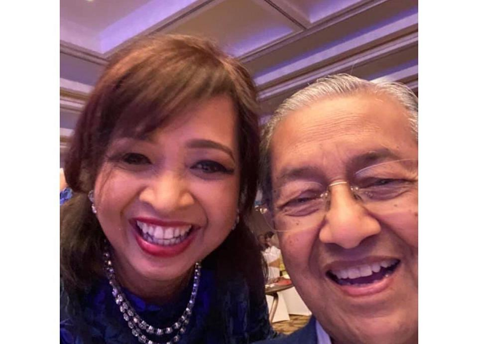 Marina said her father continues to show the wit and energy of a man in his 60s despite his age. — Picture from Facebook/marina.mahathir